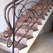 Ковані перила на сходах в будинку