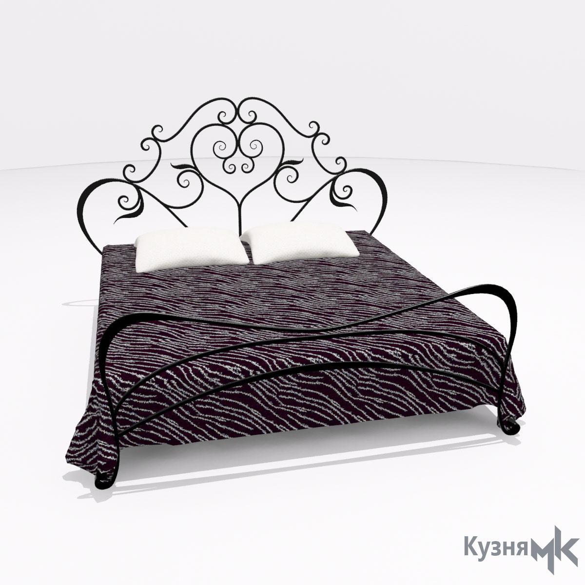 Двоспальне коване ліжко