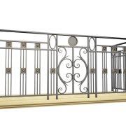 3D візуалізація кованого балкону