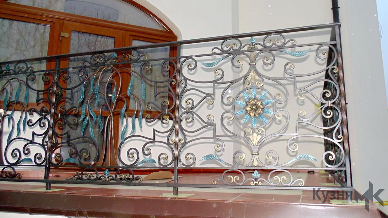 Кований балкон R14