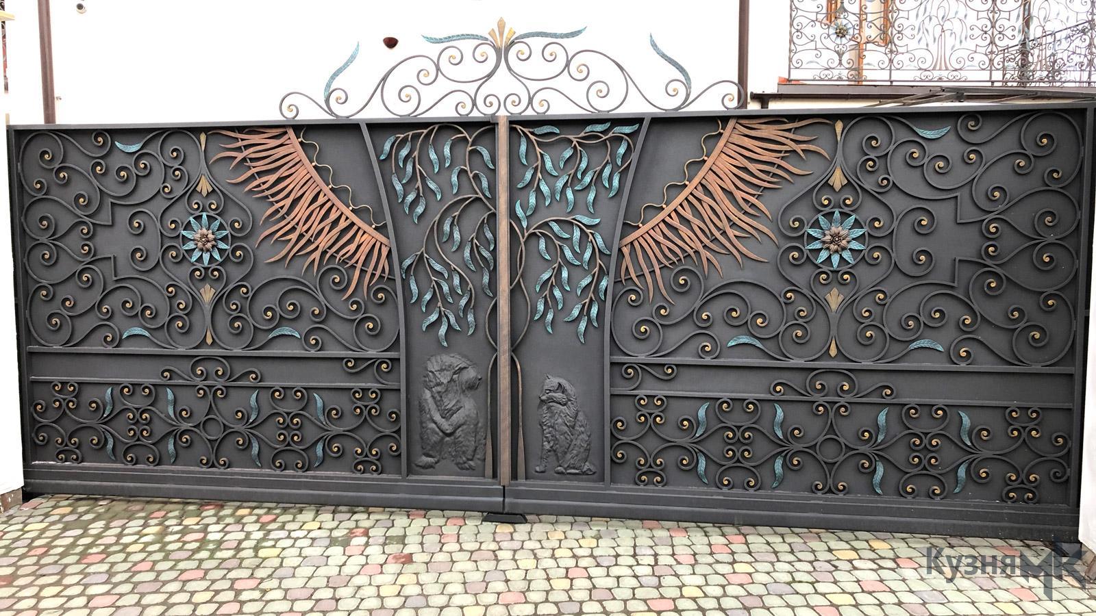 Ковані відсувні ворота