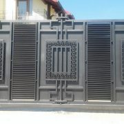 Ковані ворота в стилі модерн