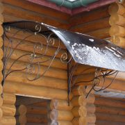 Кований дашок над дверима